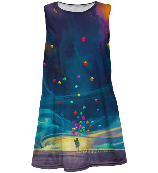 Colorful Balloons summer dress for kids Miniatura 1