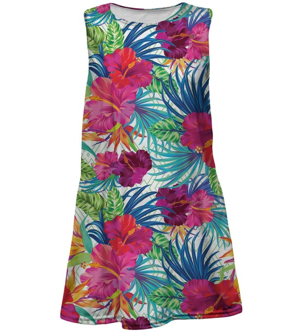 Jungle Flowers summer dress for kids Miniatura 1