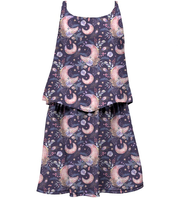 Moon Pattern layered dress for kids Thumbnail 1