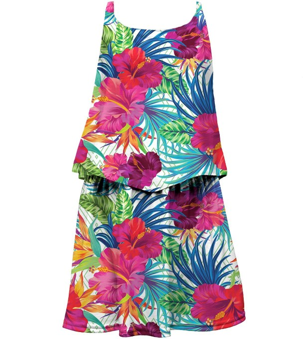 Jungle Flowers layered dress for kids Thumbnail 1