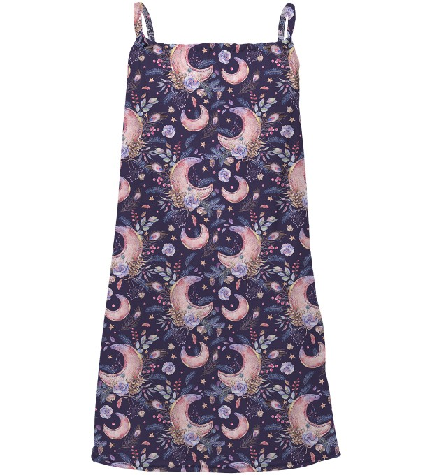 Moon Pattern sleeveless dress for kids Thumbnail 1