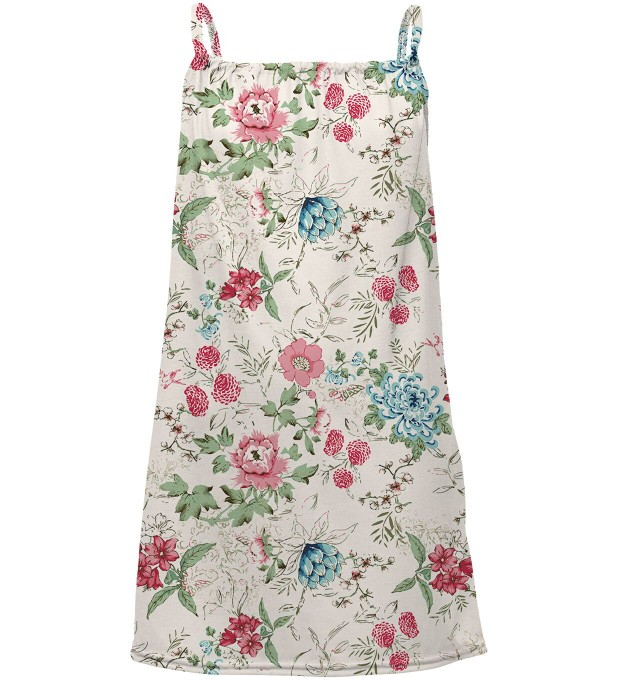 Flowers Sketch sleeveless dress for kids Thumbnail 1