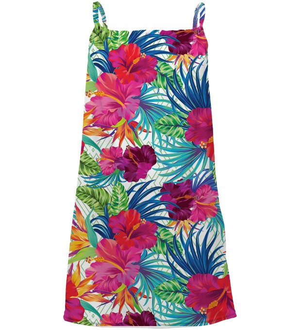 Jungle Flowers sleeveless dress for kids Thumbnail 1
