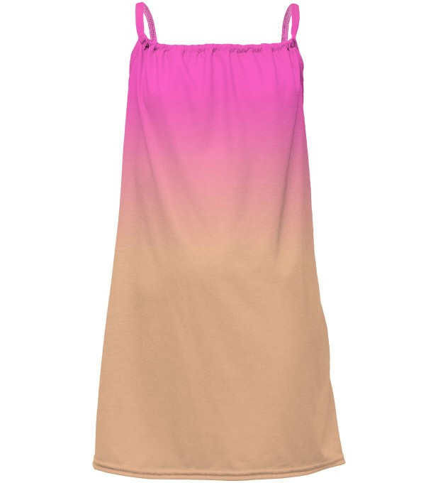 Pink & Orange Ombre sleeveless dress for kids Miniatura 1