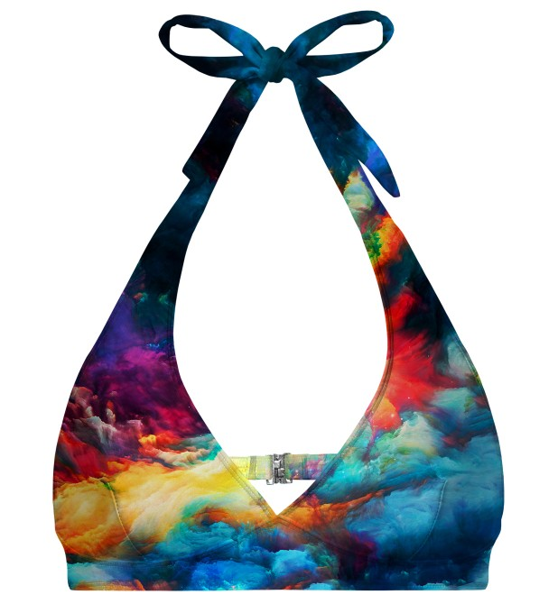 Colorful Space halter neck bikini top Miniature 1