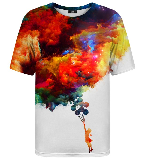 With balloons to galaxy t-shirt Miniature 1
