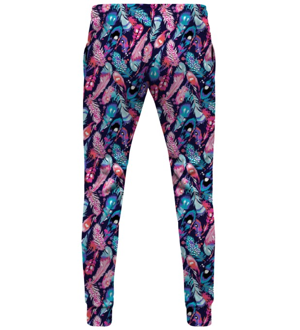 Colorful Feathers sweatpants Miniature 2