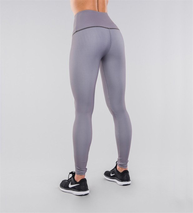 Full Grey Classic Highwaist Leggings Miniature 2