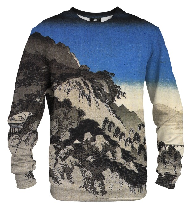 Full moon over a mountain landscape sweater Thumbnail 1