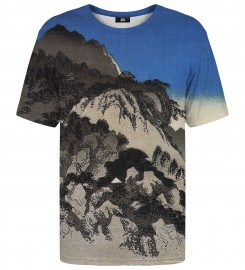 Mr. Gugu & Miss Go, Full moon over a mountain landscape t-shirt Thumbnail $i