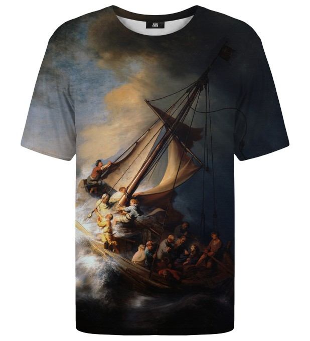 Christ in the Storm on the Lake of Galilee t-shirt Miniatura 1
