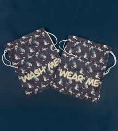 Mr. Gugu & Miss Go, Galaxy Kittens underwear bag Miniatura $i