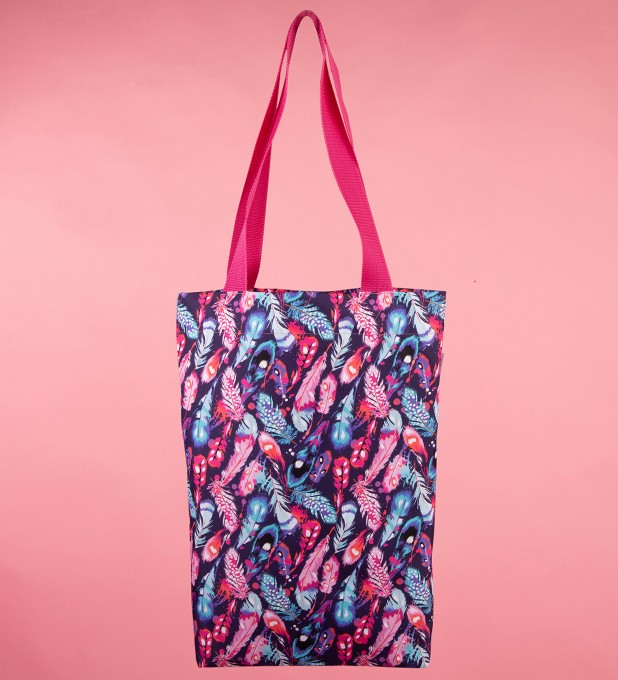 Colorful Feathers beach bag Thumbnail 1
