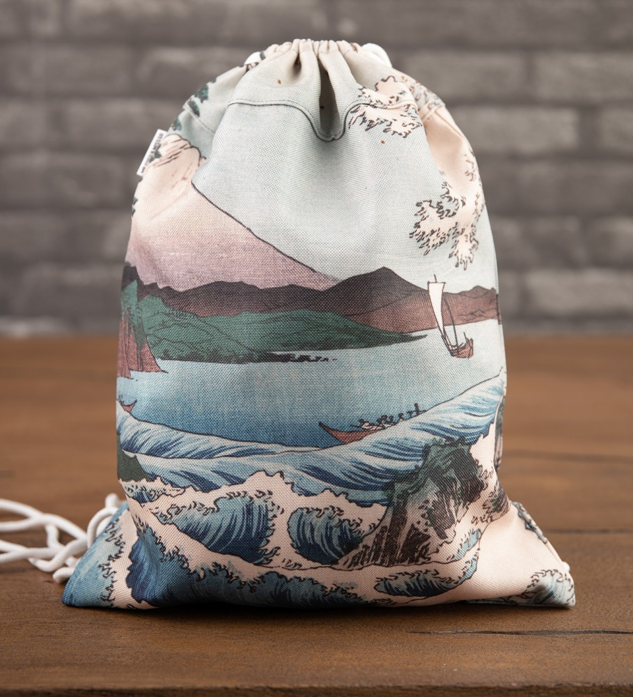 Mr. Gugu & Miss Go, The Sea of Satta drawstring bag Image $i