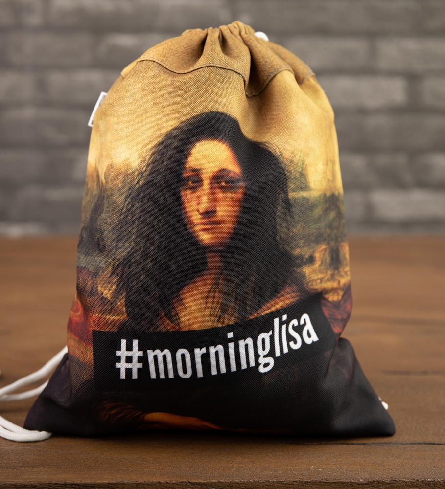 Mr. Gugu & Miss Go, Morning Lisa drawstring bag Image $i