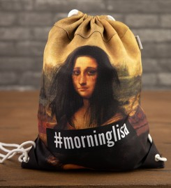 Mr. Gugu & Miss Go, Morning Lisa drawstring bag Thumbnail $i