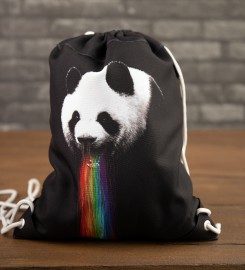 Mr. Gugu & Miss Go, Pandalicious drawstring bag Thumbnail $i