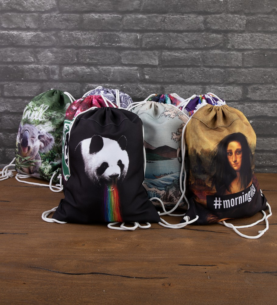 Mr. Gugu & Miss Go, Pandalicious drawstring bag Image $i
