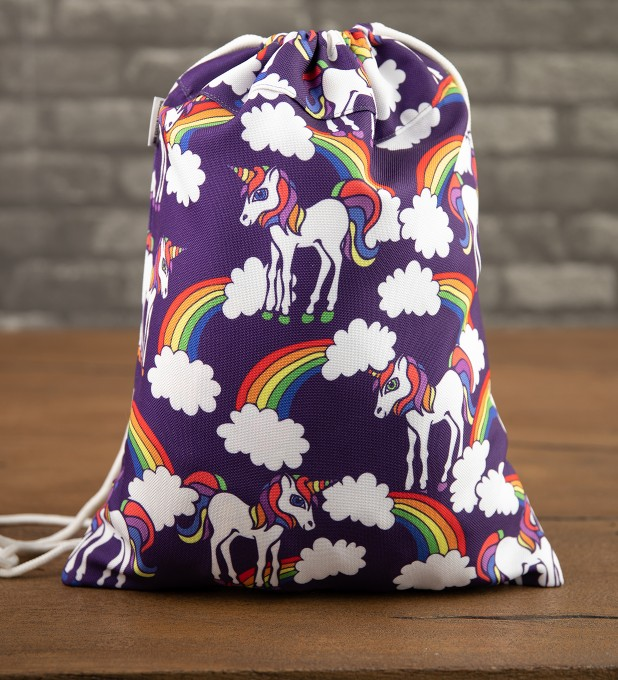 Rainbow Unicorns drawstring bag Thumbnail 1