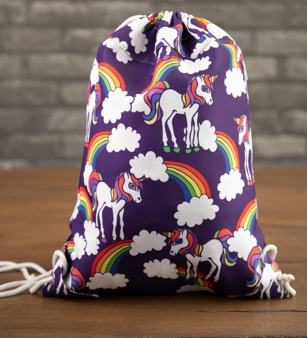 Rainbow Unicorns drawstring bag Thumbnail 2