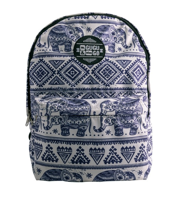Elephants Pattern backpack Thumbnail 1