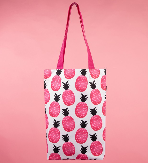 Pink pineapple beach bag Thumbnail 1