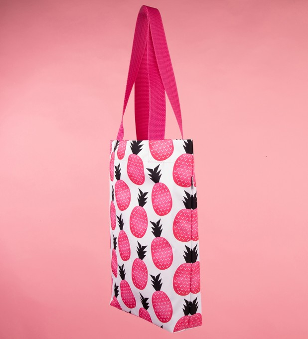 Pink pineapple beach bag Thumbnail 2