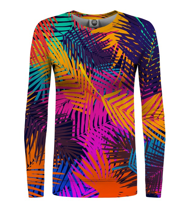 Colorful Palm womens sweatshirt Miniaturbild 1