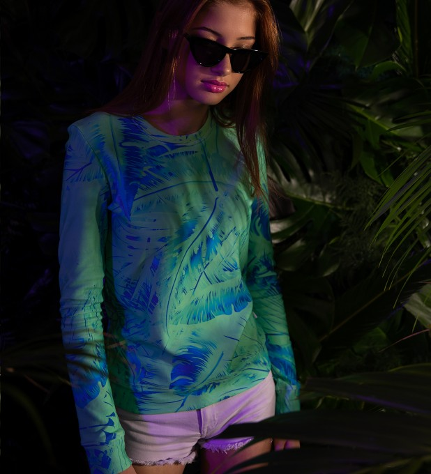 Tropical Green womens sweater Thumbnail 2