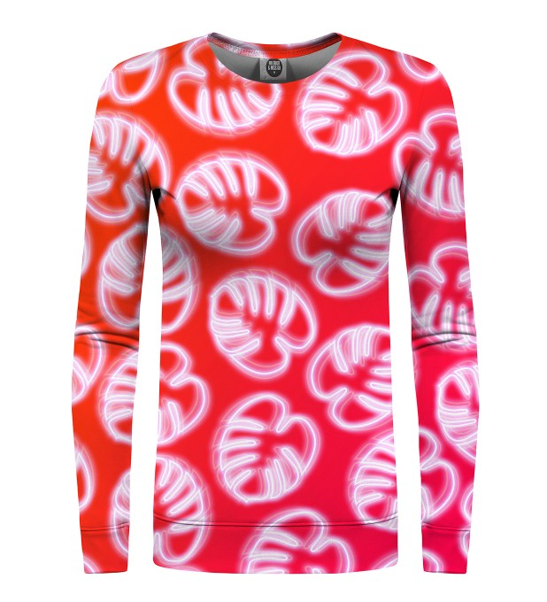 Neon Red womens sweater Miniature 1
