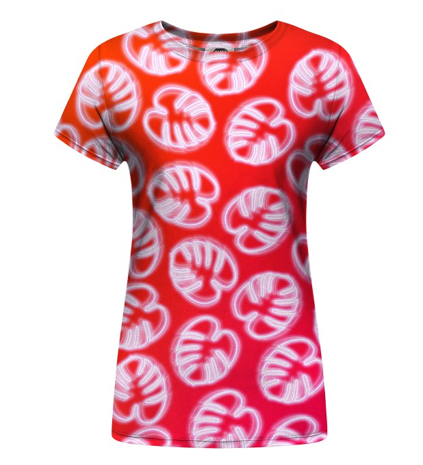 Neon Red womens t-shirt Thumbnail 1