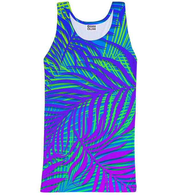 Blue Palm tank-top Miniature 1