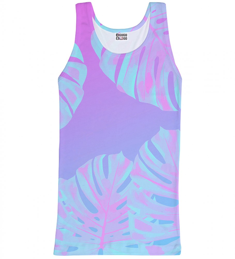 Mr. Gugu & Miss Go, Monstera Leaves Pink tank-top Image $i