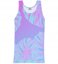 Mr. Gugu & Miss Go, Monstera Leaves Pink tank-top Thumbnail $i