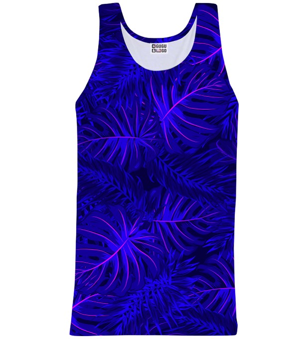 Tank-top ze wzorem Tropical Dark Blue Miniatury 1