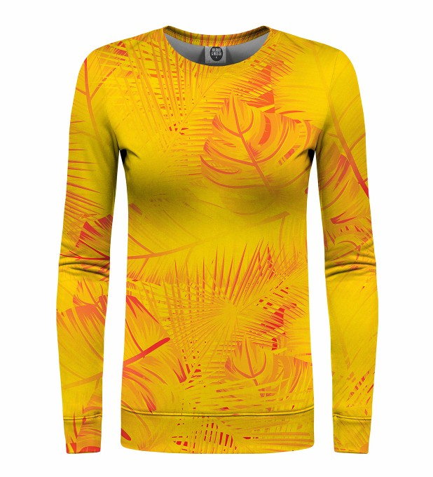 Yellow Jungle womens sweatshirt Miniaturbild 1