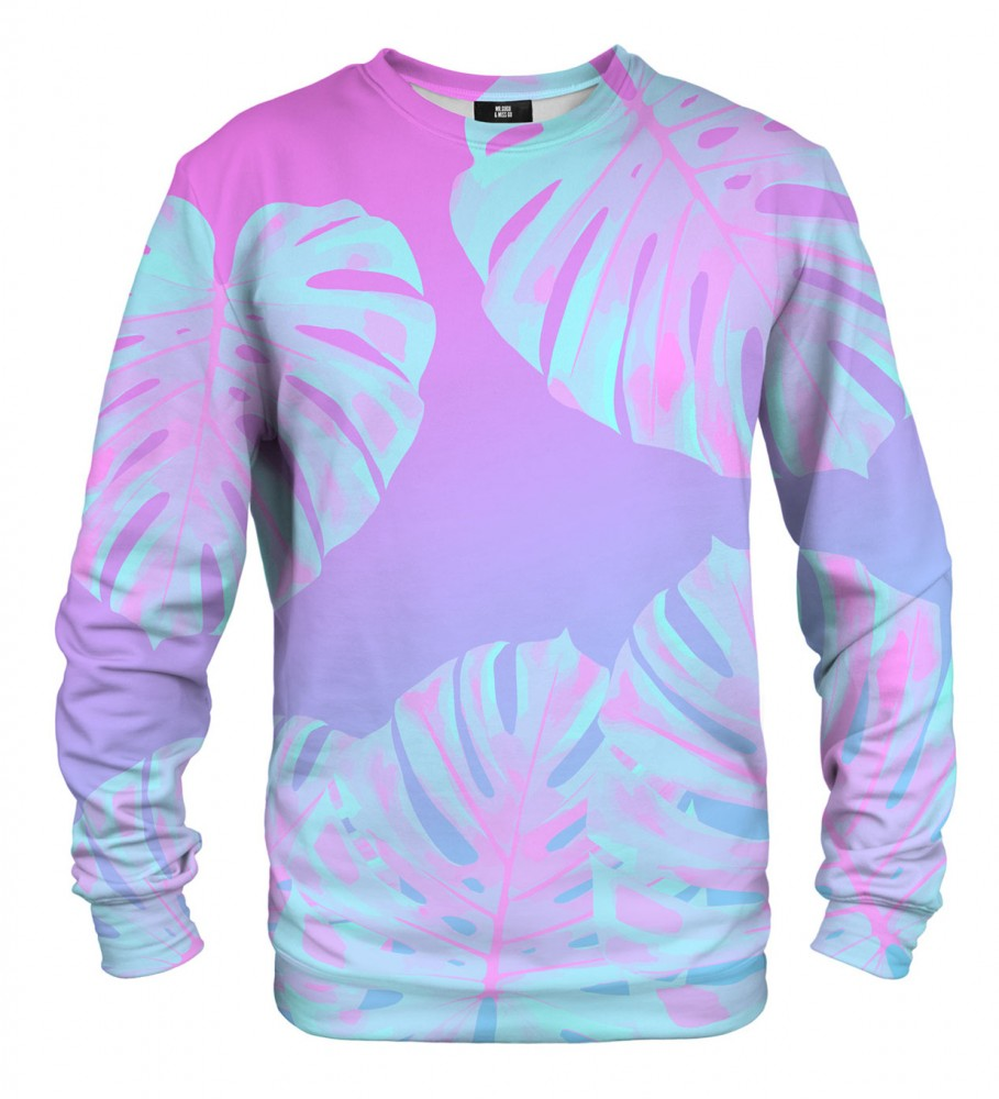 Mr. Gugu & Miss Go, Monstera Leaves Pink sweater Image $i