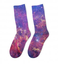 Mr. Gugu & Miss Go, Purple Nebula midi socks Miniatura $i