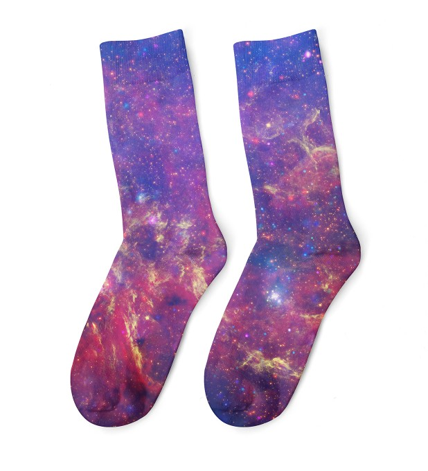 Purple Nebula midi socks Thumbnail 1