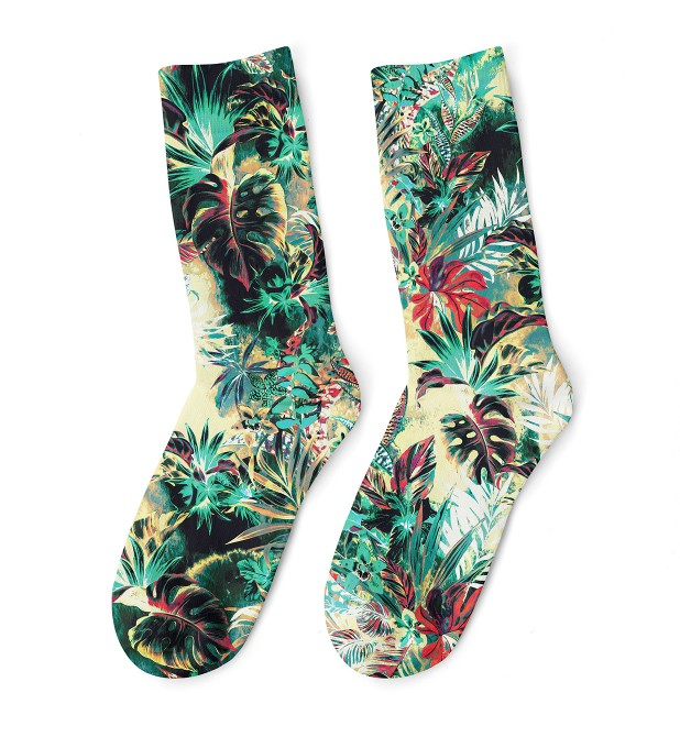 Tropical Jungle midi socken Miniaturbild 1