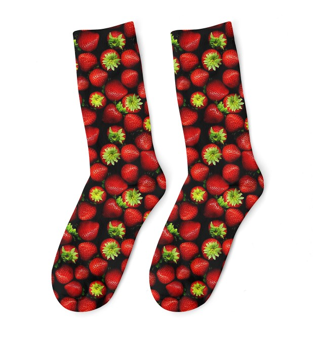 Strawberries midi socken Miniaturbild 1