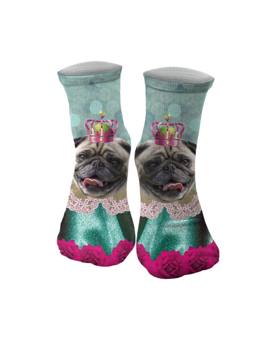 King Of Pugs midi socken Miniaturbild 1