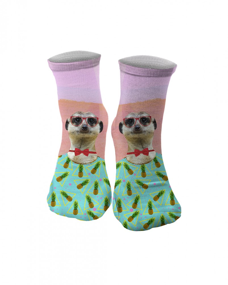Mr. Gugu & Miss Go, Meerkat Man midi socks Фотография $i