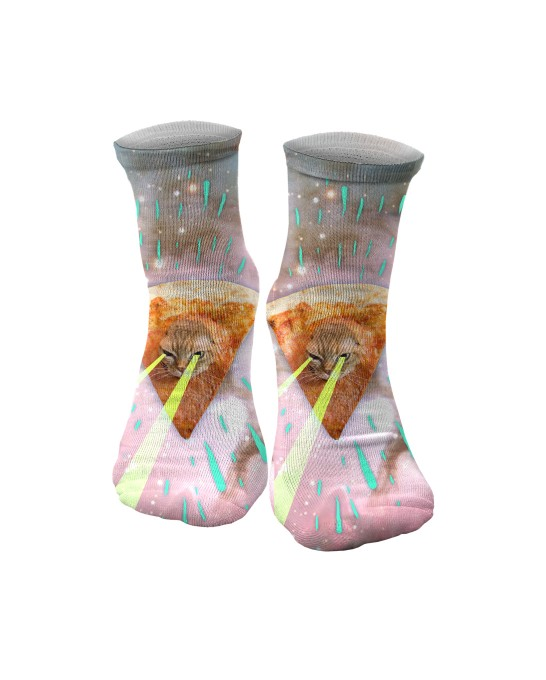 Super Pizza Laser Cat midi socken Miniaturbild 1