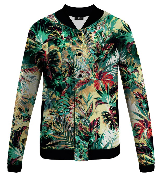 Tropical Jungle baseball jacket Thumbnail 1