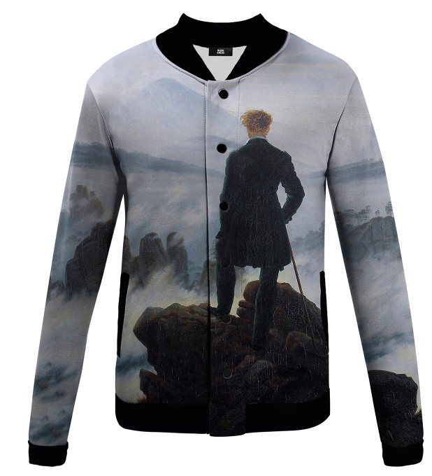 Wanderer above the Sea of Fog Baseballjacke Miniaturbild 1