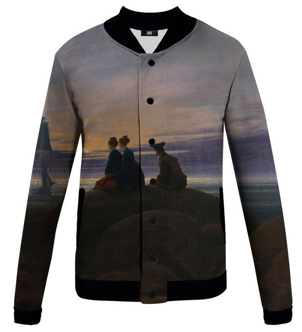 Moonrise Over The Sea baseball jacket Miniature 1