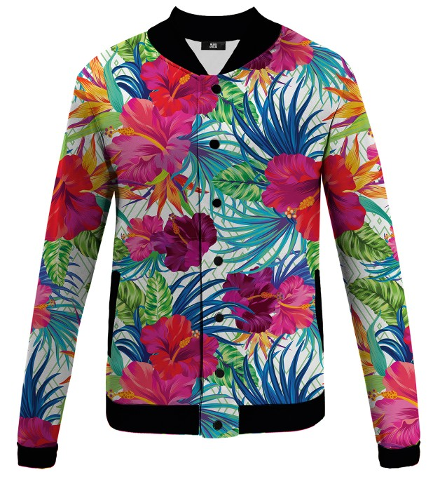 Jungle Flowers baseball jacket Miniature 1