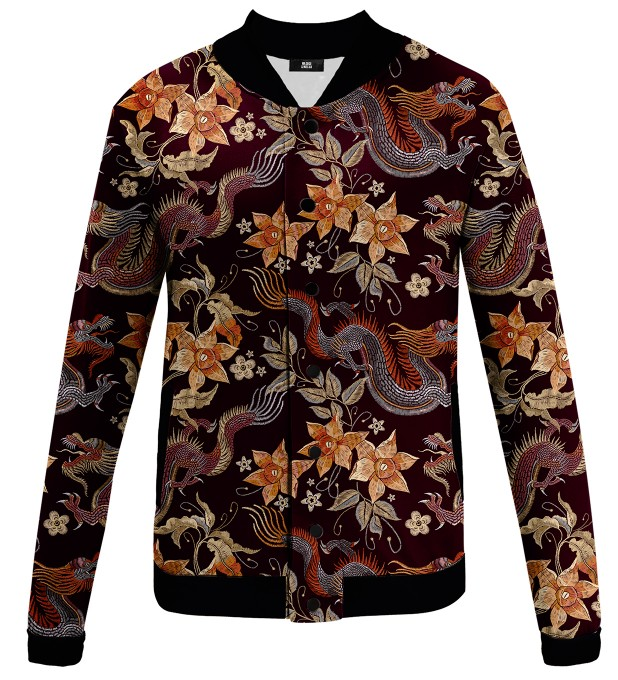 Jungle Flowers baseball jacket Miniatura 1