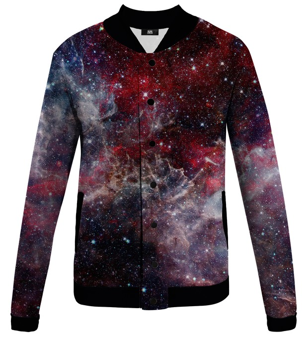 Deep Red Nebula baseball jacket Thumbnail 1
